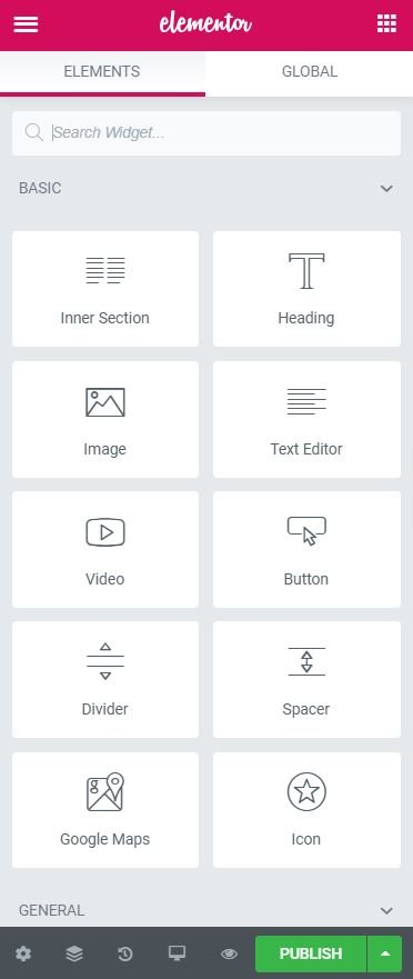 This is Elementor's navigation pane.  It allows you to fully customize your website.