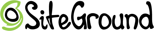 This is a screenshot of SiteGround's black and green logo.